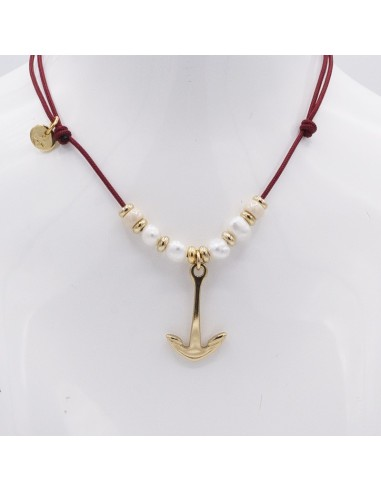 nautical choker with anchor