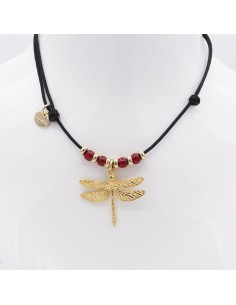 nautical choker with dragon fly