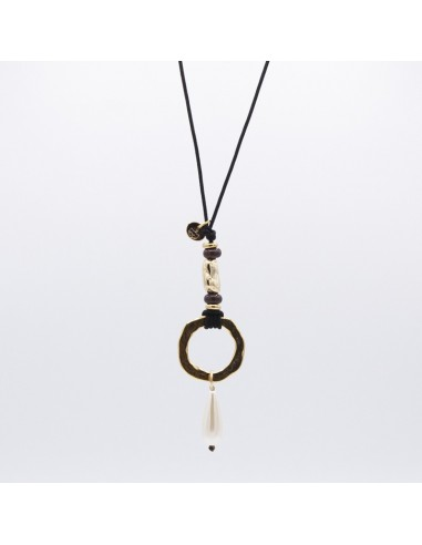 Nugget and drop necklace