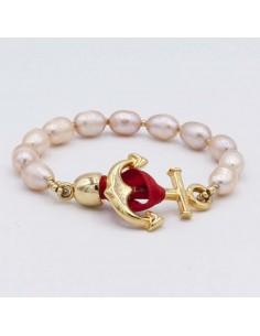 Nautical Pearl Bracelet