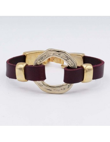 Leather and hoop bracelet