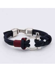 Nautical shackle bracelet