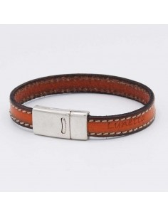 Stitched leather bracelet