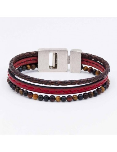 Pulsera triple piedra natural
