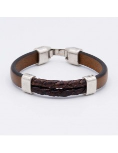Combined Leather bracelet