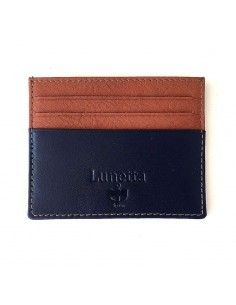 Leather bicolor card holder
