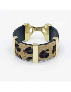 Brazalete Leopardo Piel de Potro