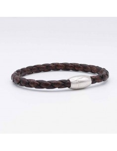 Round braided leather bracelet