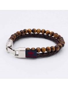 Triple natural stone bracelet