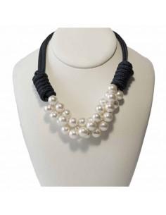 Collar Nudos Náuticos con Perlas